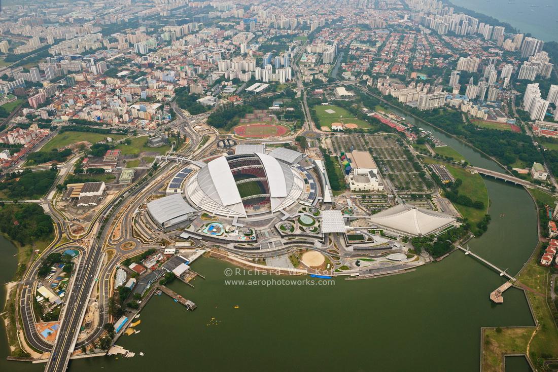 Singapore Sports Hub aerial