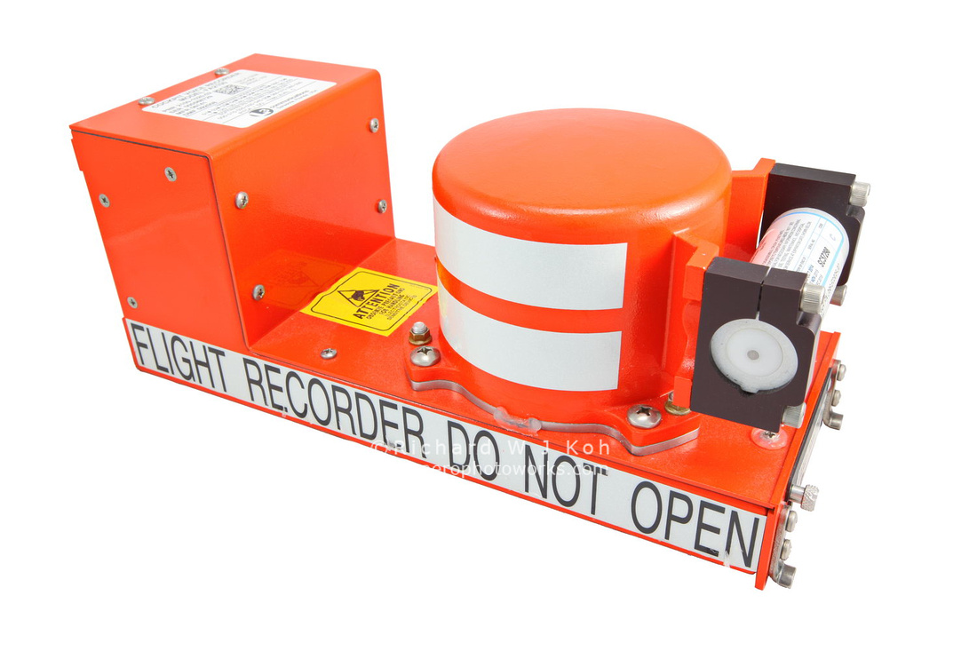 Aircraft aviation flight data recorder (commonly known as a Black Box)